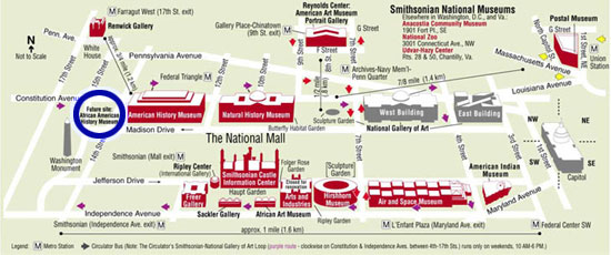 Map of National Mall w/ blue circle by Toby
