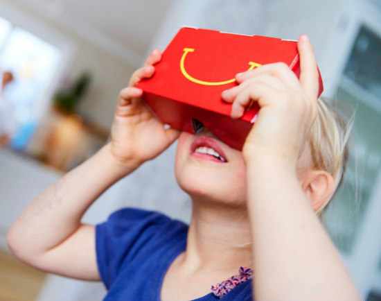 McDonald's VR Happy Goggles: Happy Meals in Sweden now offer virtual reality toys for kids