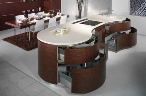 Modern Rounded Kitchen