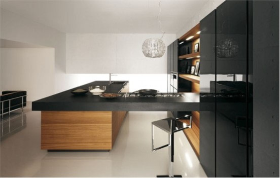 Modern Kitchen in Black