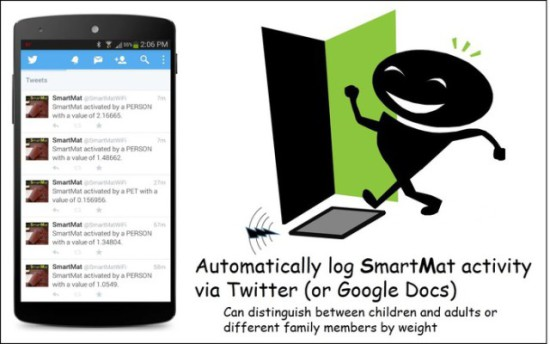 Monitor SmartMat through Twitter: image via kickstarter.com