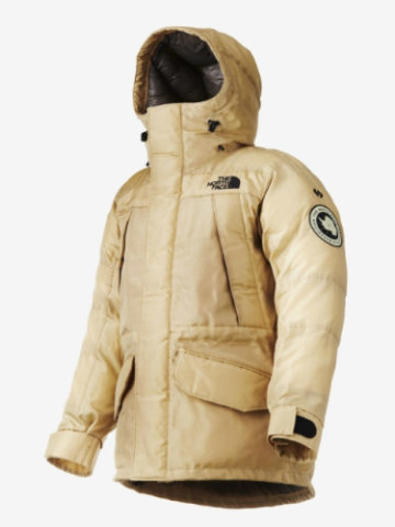 The 'Moon Parka' by Spiber and The North Face: Jacket made from synthetic spider silk