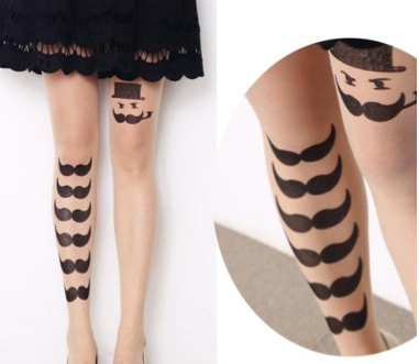 Moustache Tights