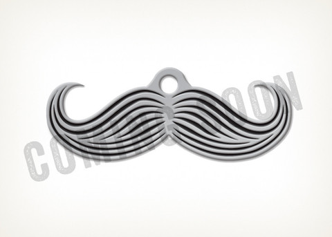 Muttstache Dog Tag: image via muttcoutureinc.com