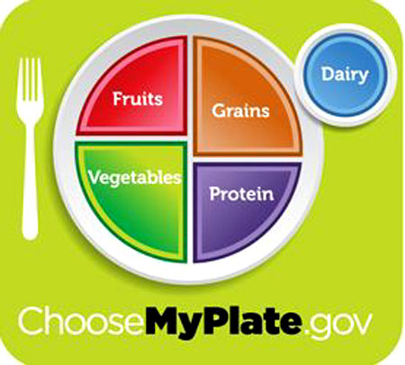 The USDA&#039;s icon for healthy eating: MyPlate