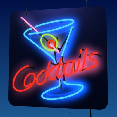 Retro-cocktails (retro-sign!): image by Spexstudio, fallingpixel.com