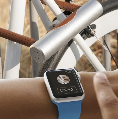 Kickstarter 2015: The Noke app is compatible with an endless array of smart watches and the Apple Watch. With the press of a button you can simply lock or unlock your bike.