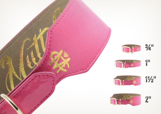 Pink Patent Dog Collar, Mutt Couture: image via muttcoutureinc.com