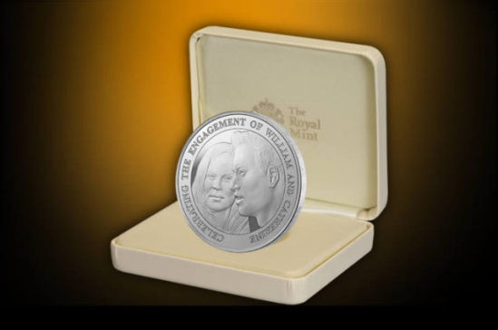 The Royal Engagement Alderey 5 Coin - sterling silver edition