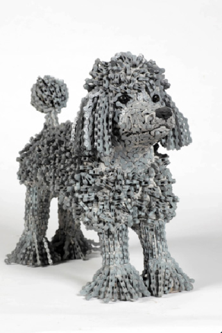 "Nirit Levav Dog Sculptures - ""Paris"""