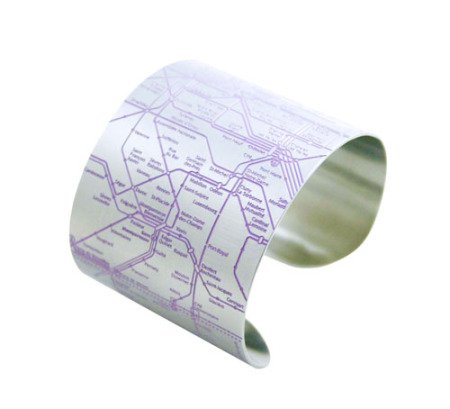 Paris Metro Cuff (Purple)