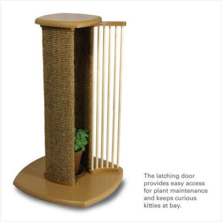 Scratch &#039;n Sniff Live Catnip Scratching Post:  Scratch &#039;n Sniff Live Catnip Scratching Post