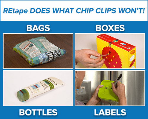 REtape Can Be Used on Multiple Applications: Reusable REtape makes storing things more convenient