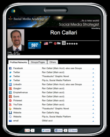 Ron Callari's XeeMe.com Account