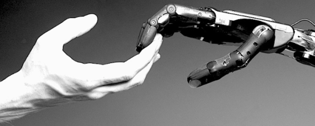 Human and Robot Hand
