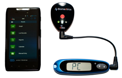 Ditto Glucose Bluetooth Data System