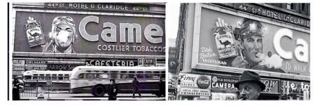 NYC Camel Cigarettes Billboards of the 1950s