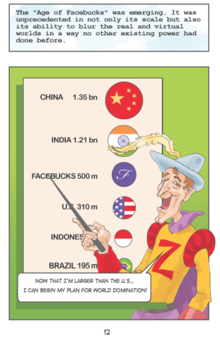 Satirical graphic novel depicts Facebook's (aka Facebucks) world domination