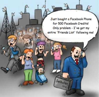 Facebook Phone cartoon