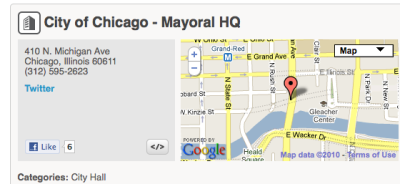 City Hall Check-in for Foursquare Mayorship Race in Chicago