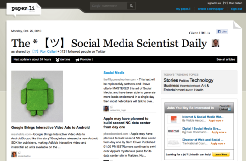 Social Media Scientist Daily by Ron Callari