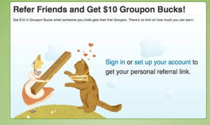 Groupon&#039;s Referral Program