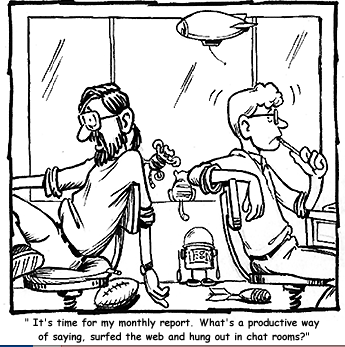 Social Media Reporting Cartoon