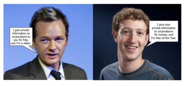Julian Assange vs Mark Zuckerberg