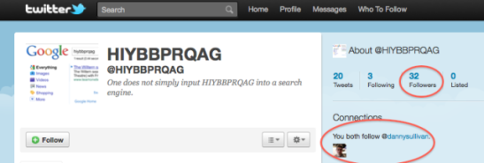 &quot;Hiybbprqag&quot; Twitter Account