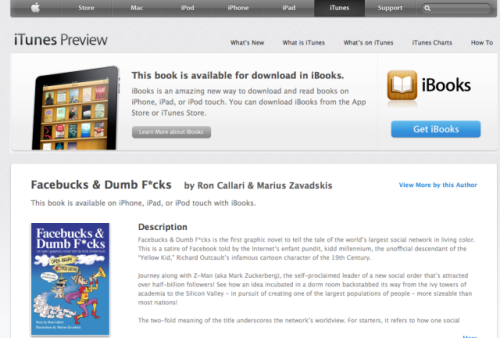 "Download ""Facebucks & Dumb F*cks"" at Apple iBookstore"