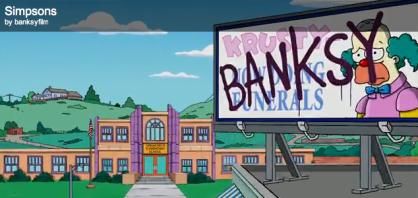 Bansky on the Simpsons