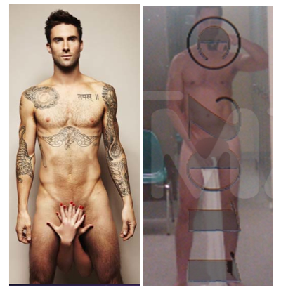 Adam Levine vs Anthony Weiner au natural!