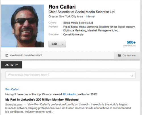 Ron Callari's BILLBOARD on LinkedIn