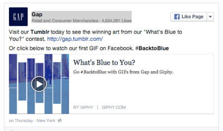 The Gap's FB Page