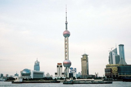 Shanghai Riverfront with Pearl Tower: image courtesy of www.ilankelman.org