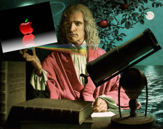 Sir Isaac Newtown & Apple Logo