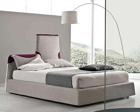 Sleep Technology: Paciugo Italian Contemporary Bed - Bendy Heaadboard