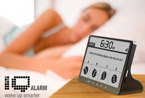 Sleep Technology: iQ Alarm Clock: Early morning quiz, anyone?