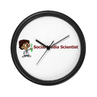Social Media Scientist Clock