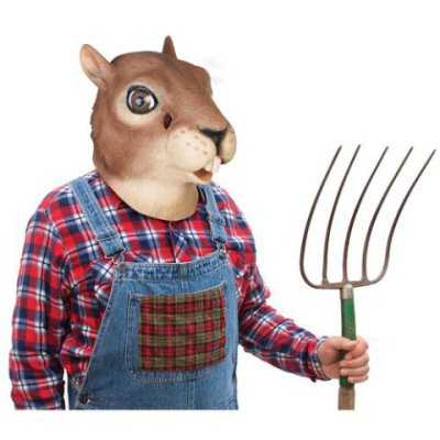 Creepy Masks: American Gothic Squirrel Mask: Nuts