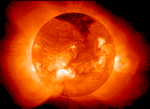 Fusion reactor inspiration: the sun. Image from NASA Goddard Laboratory for Atmospheres.
