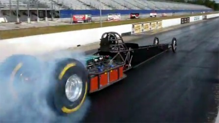 Swamp Rat #37 Attempting World Record: The Lithium-powered dragster, designed by Lawless EV Racing, boosts over 1200 hp.