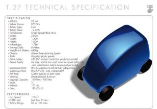 T.27 Technical Specifications
