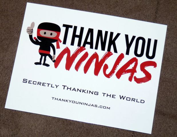 Thank You Ninja Postcard