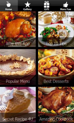 Thanksgiving Recipes and Jokes App