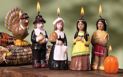 Thanksgiving Nativity Candles