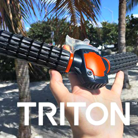 The Triton Re-Breather for Diving: Artificial gills image via Triton Facebook