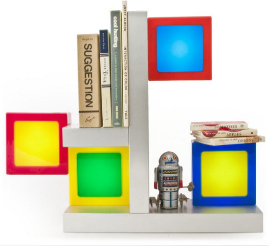"TwistTogether Shelves With TwistTogether ""Candy"" Lamps: ©TwistTogether Company"