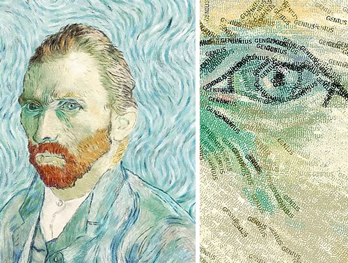 Genius (Diptych of Full Size and Zoomed In View)