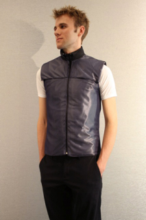 De-Stressing Piezoelectric Vest: image via Cornell Chronicle